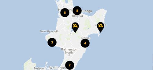 ASB Branches - North Island