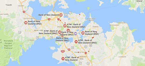 BNZ Branches - Auckland