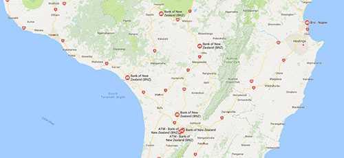 BNZ Branches - Manawatu-Wanganui