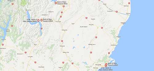 BNZ Branches - Otago