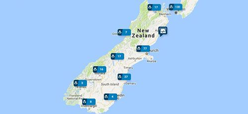 ANZ Branches - South Island