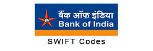 Bank of India BIC Codes