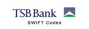 TSB Bank BIC Codes