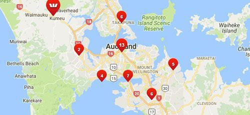 Westpac Branches - Auckland