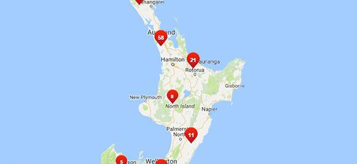 Westpac Branches - North Island
