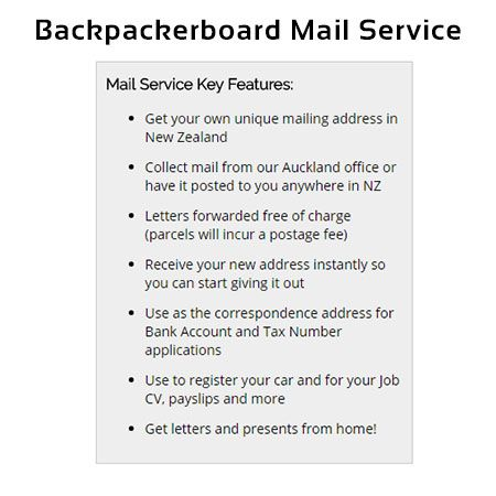 New Zealand Mail Service for Bank Account